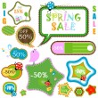 Spring sale — Stockvectorbeeld