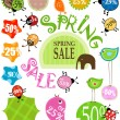 Spring sale — Stock Vector