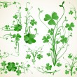 图库矢量图片: Clover design elements