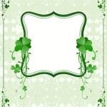 St. Patrick`s Day frame — Stock Vector