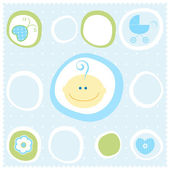 Baby boy — Stock Vector