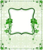 St. Patrick`s Day frame — Stock Vector
