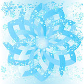 Ice rosette with snowflakes and bubbles — Stock Photo