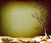 Grunge winter landscape — Stock Photo