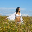 Woman at the meadow — Stock Photo