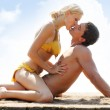 Couple  on the beach — Foto Stock