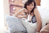 Portrait of the beautiful elegant girl — Stock Photo