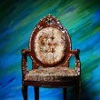 Ancient carved armchair — Stock Photo
