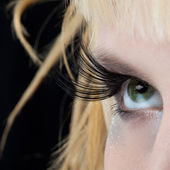 Modern fashion makeup of a female eye — Stock Photo