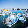 Fishing boats at a port - Foto Stock