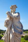 Sculptures in park in Peterhof — Stock Photo