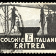 Stock Photo: Old stamp from Eritrea