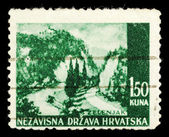 Old stamp from Croatia — Stock Photo