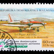 Madagascar air mail stamp - Stock Photo