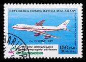 マダガスカル航空メール スタンプ — ストック写真