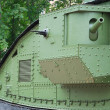 A British Mark V tank (details) - Stock Photo