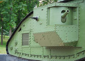 A British Mark V tank (details) — Stock Photo
