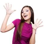mulher com expressão facial positiva — Fotografia Stock  #2858788