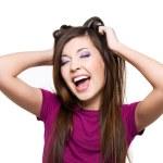 jonge schreeuwende vrouw — Stockfoto #2858846