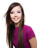 Beautiful cheerful young woman — Stock Photo