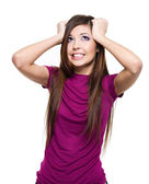 Woman with big problems — Stock Photo