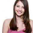 Beautiful toothy smiling woman — Stock Photo