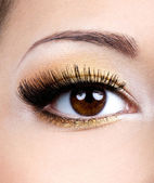 Fashion female eye makeup — Stock Photo