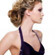 Elegance woman with beautiful hairstyle — Stock Photo