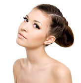 Beautiful woman with style hairstyle — Stock Photo