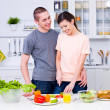 Happy couple in the kitchen — Stock Photo #3159483