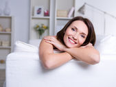 Happy woman at home — Stock Photo