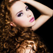 Beautiful  woman with beauty  long  hairs - Stock Photo