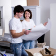 Planning of new flat — Stock Photo #3468244