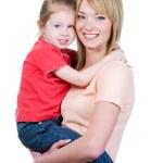 Mãe, segurando sua filha — Foto Stock