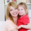 Happy mother with daughter — Stockfoto