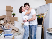 New flat for newly married couple — Stock Photo