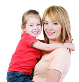 Happiness of mother andh daughter — Stock Photo