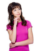 Young woman looking side — Stock Photo