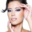 Glamour woman with modern fashion makeup — Stock Photo #3704825