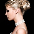 Woman with beautiful wedding hairstyle — Stock Photo