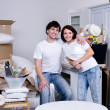 Happy couple at home — Stock Photo #3731697
