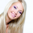Beautiful face of blond smiling woman — Stock Photo #3784089