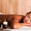 Woman relax in spa salon — Stock Photo