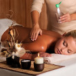 Massage for young beauty woman — Stock Photo