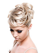Beautiful creative hairstyle — Stock Photo