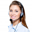 Happy woman in headset — Stock Photo #3816063