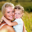 Portrait of  mother and daughter outdoors - Stock fotografie