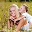 Happiness of the  mother and daughter - Foto de Stock  