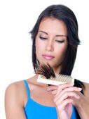 Split ends of woman's hair — Stock Photo