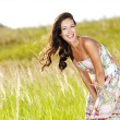 Young beautiful smiling woman outdoors — Stock Photo #3840662
